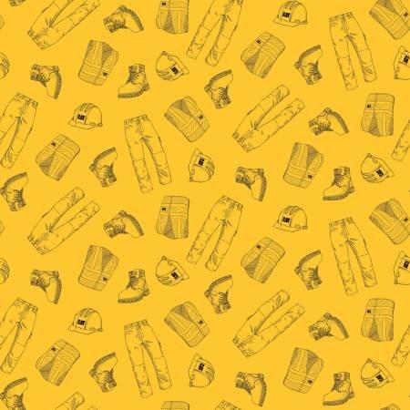 Fabric-Riley Blake CAT Clothing Yellow