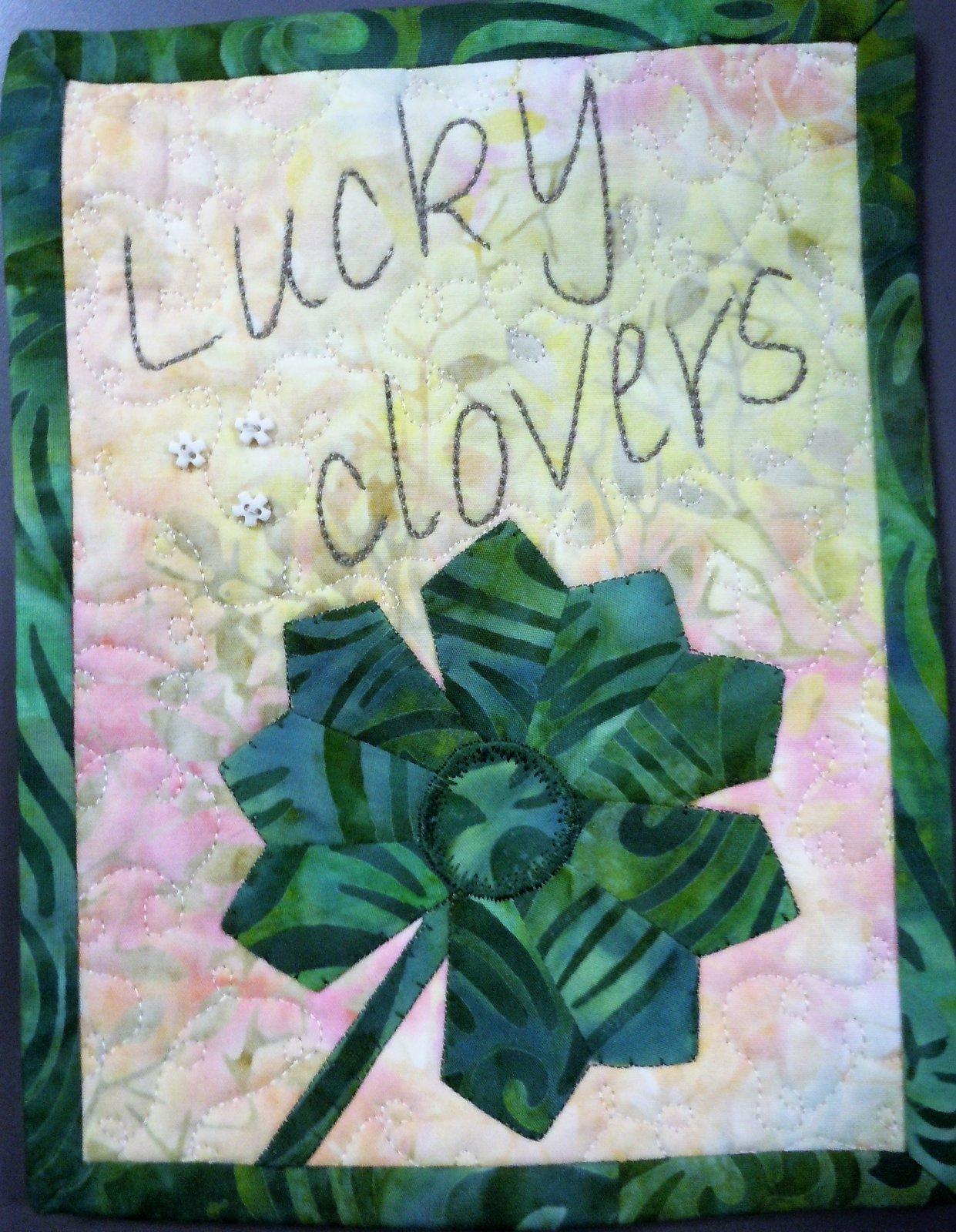 Kit-Tiny Dresden Mar Lucky Clovers 6W x 8H