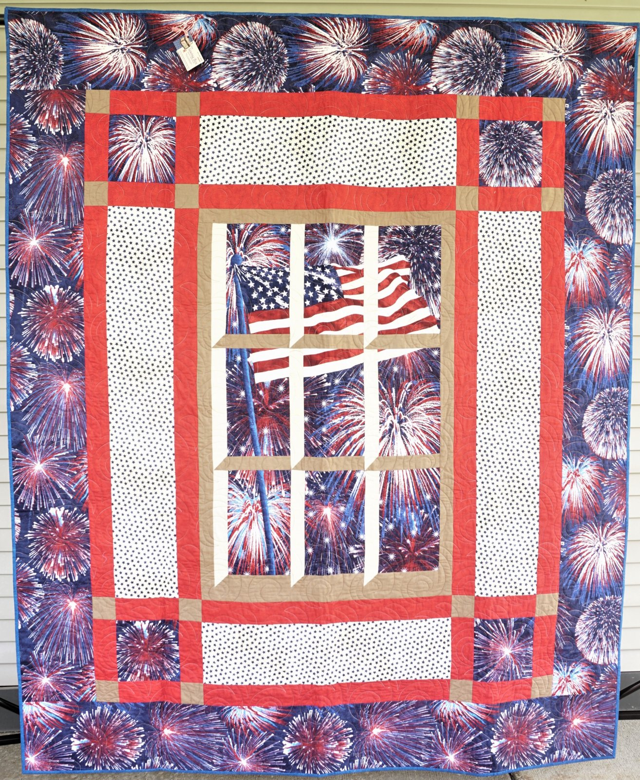 Quilt-Out My Window-Flag 68W x 82L