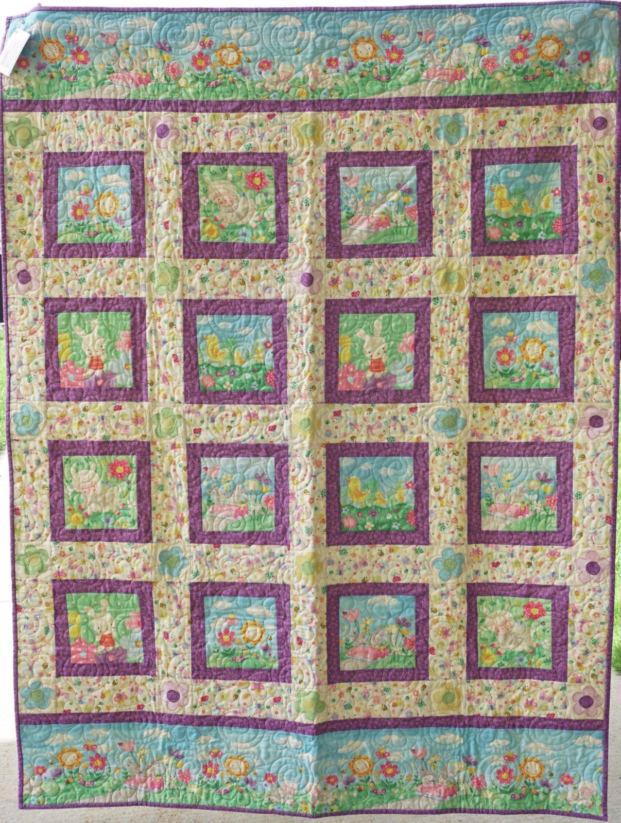 Sample-Spring Fling 46W x 63L Quilt