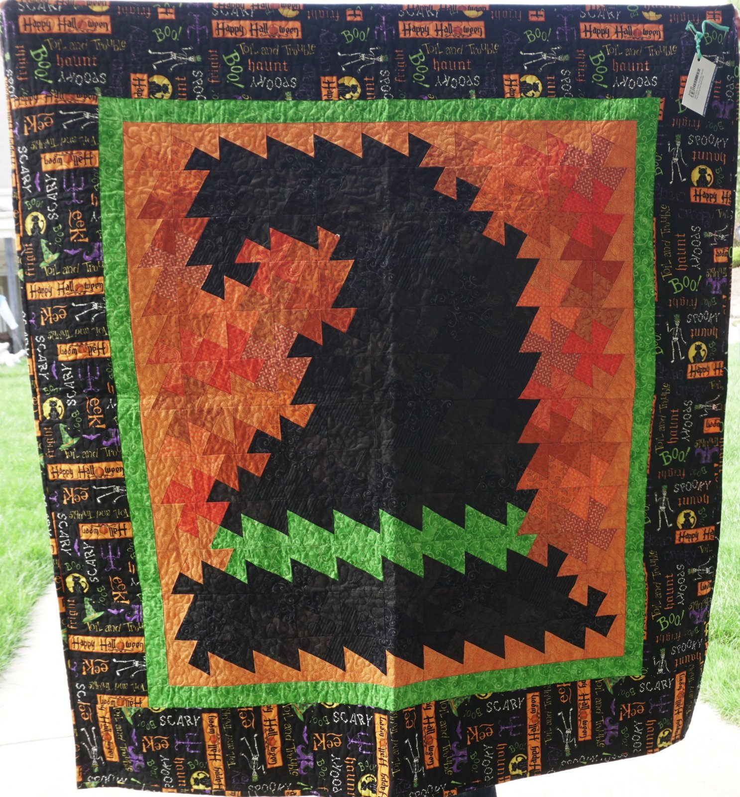 Wall Quilt-Twister Witches Hat 48W x 50H