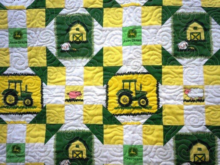 Kit John Deere Baby Quilt 38 X 38 1497022273