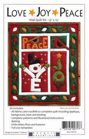 Kit--Love Joy Peace Wall Quilt 13 x 15