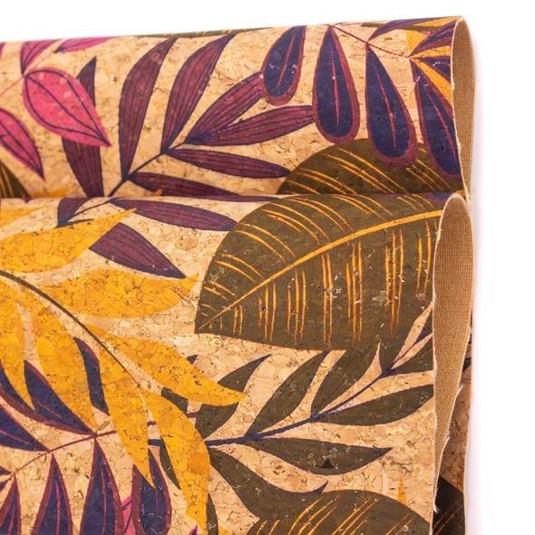 Cork-Portuguese Lg Leaves & Palm 391 18 x 26