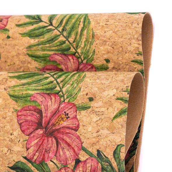 Cork-Portuguese Lg Floral/Palms 393 18 x 26