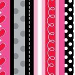 Fabric-Marcus So Sweet Loved Stripe Valentine