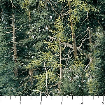 Fabric-Northcott Naturescape Trees