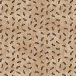 Fabric-Stof Savana Feathers on Tan