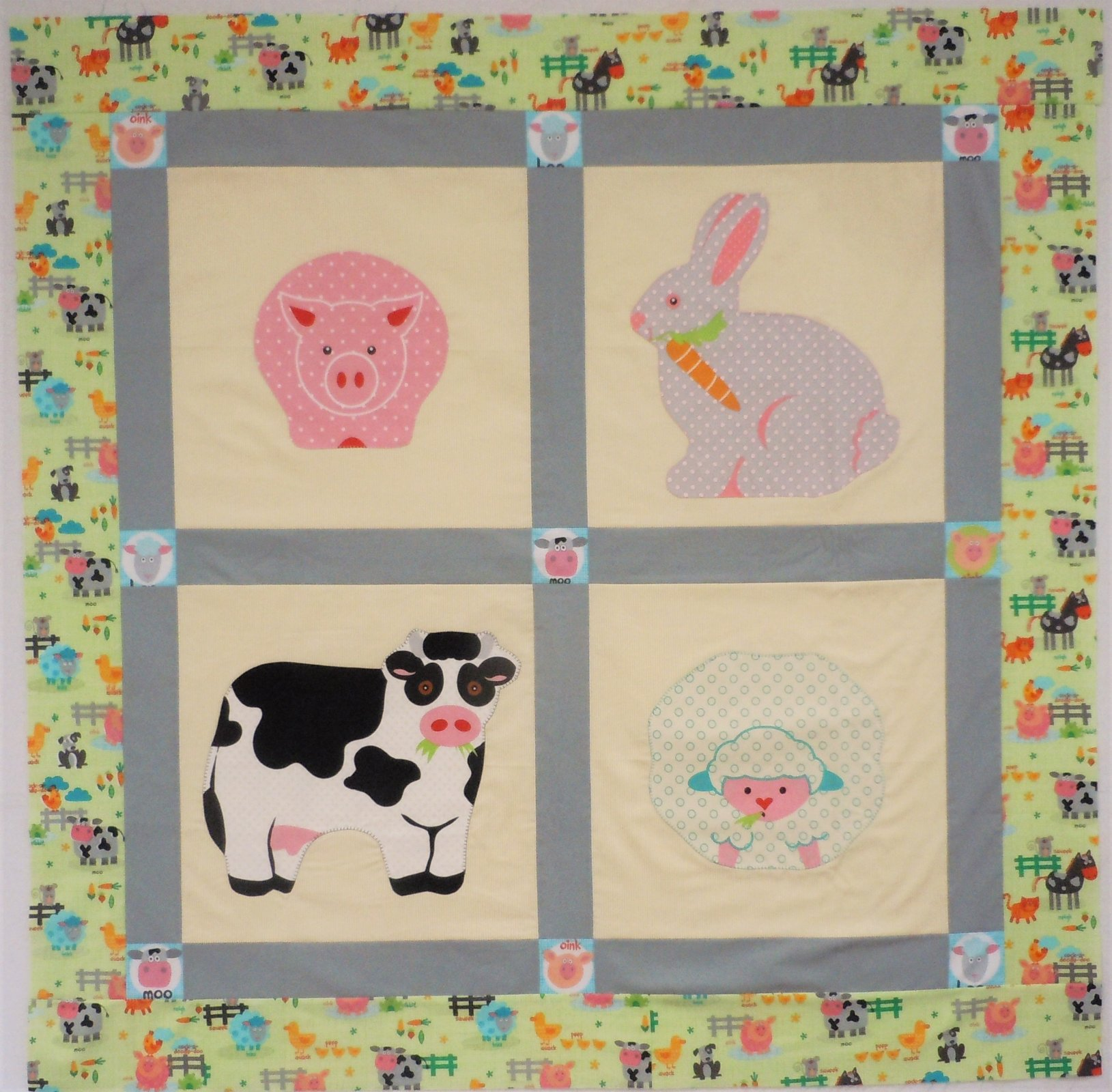 Kit-Snuggles Baby Quilt 48wide x 48 long (Double Sided)