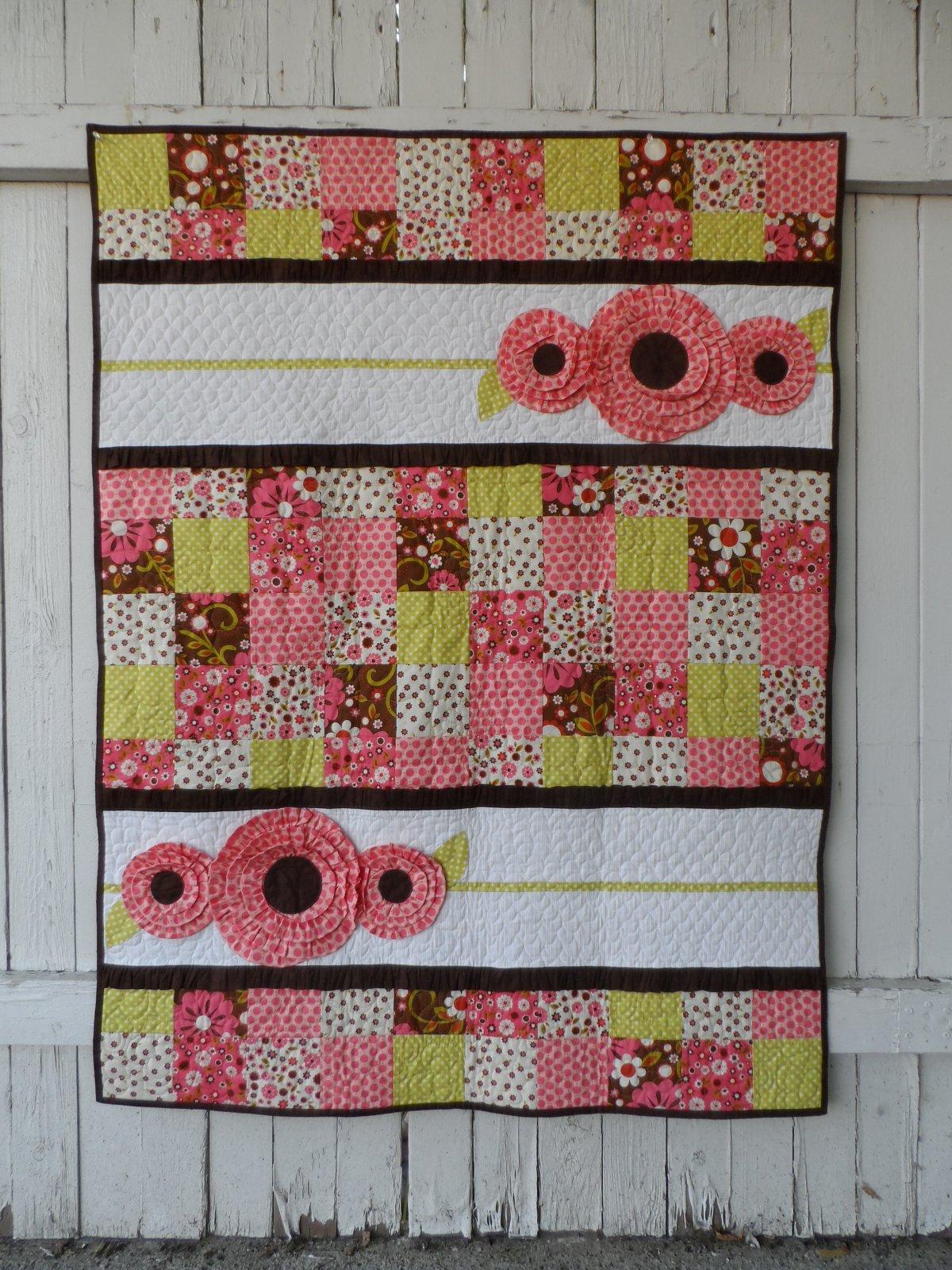 Pocket Full of Posies Girl Baby Quilt Pattern