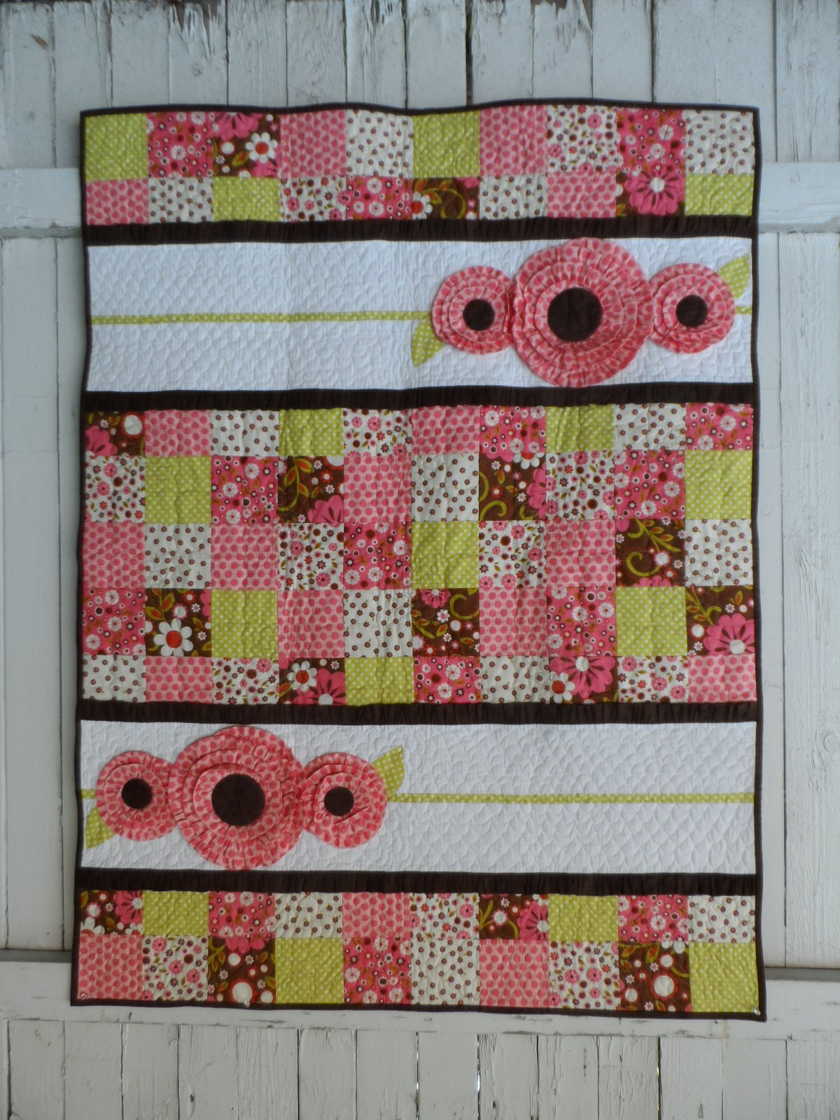Pocket Full of Posies Girl Baby Quilt Pattern