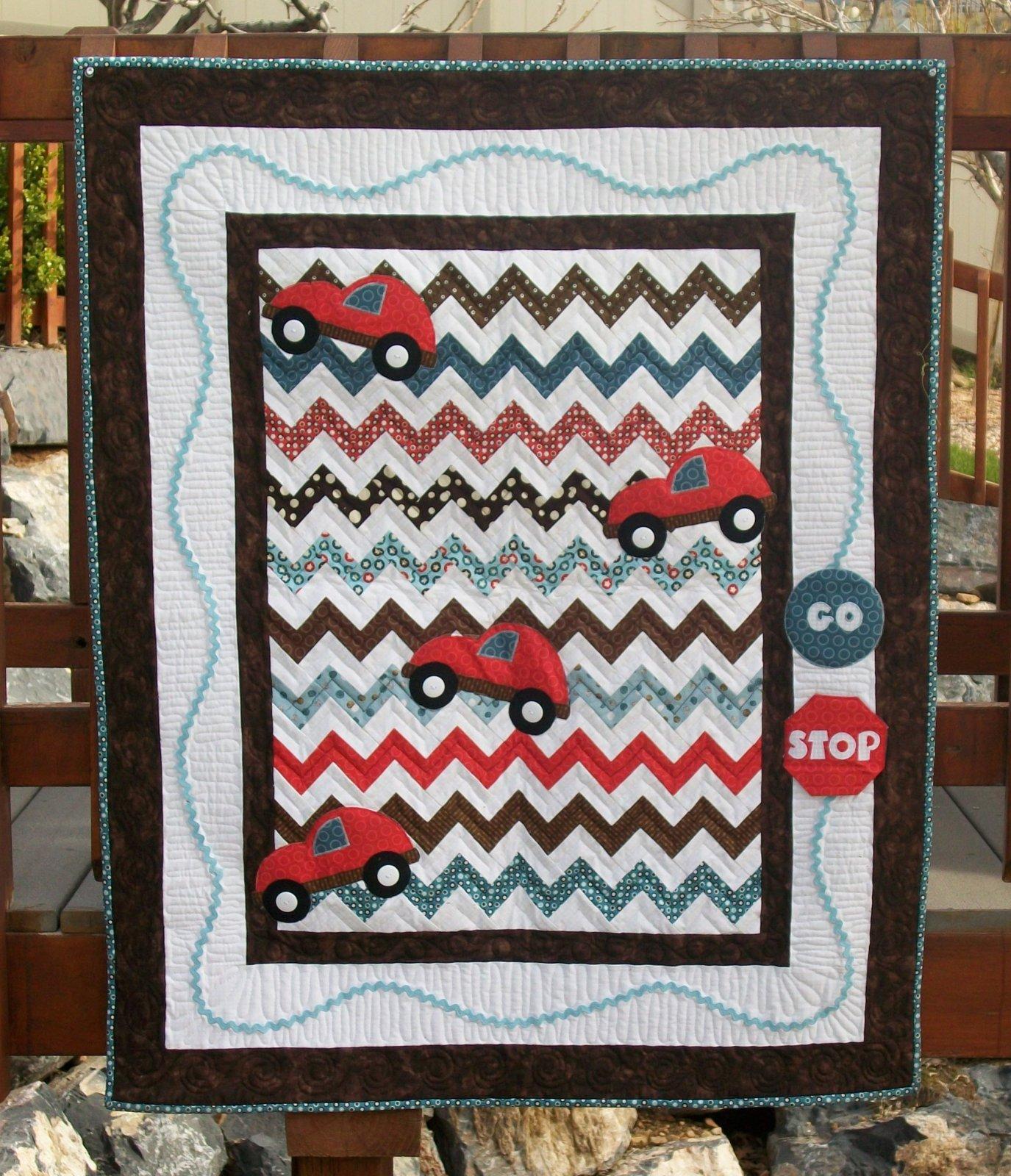 Road Rage Baby Boy Quilt Pattern