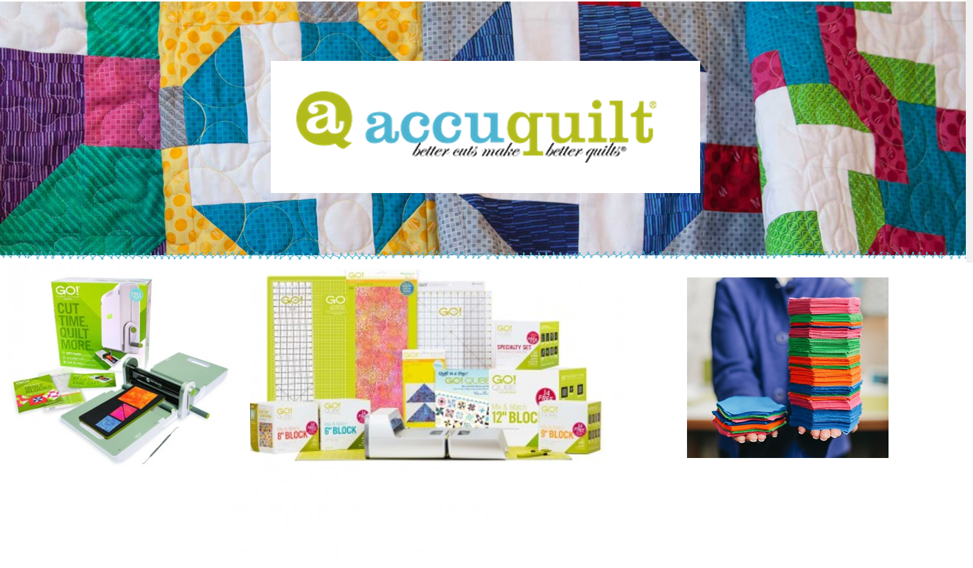 Accuquilt banner for Augusta Sewing Center