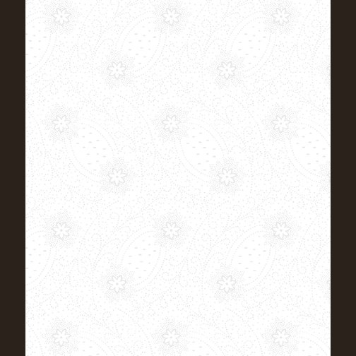 12421-09 Dotted Flowers & Scrolls White/White