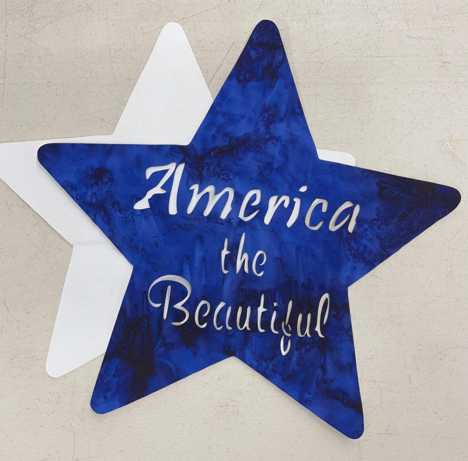 Shop Hop Bonus Block:America the Beautiful Laser Cut only