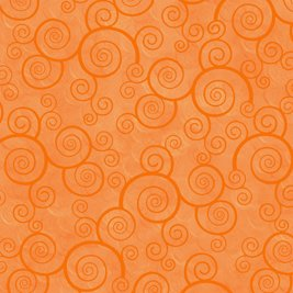 Harmony Cotton- Curly Scroll Tangerine