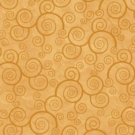 Harmony Cotton- Curly Scroll Honey
