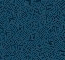Harmony Cotton- Squares Prussian Blue
