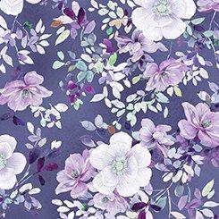 Jacqueline Floral Grape 1649-26557-V