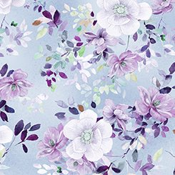 Jacqueline Floral Chambray 1649-26557-W