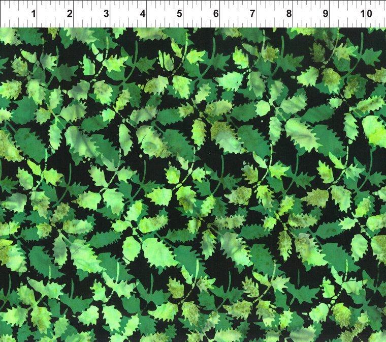 Floragraphix Batik 4 Leaves Green 2GBD-2