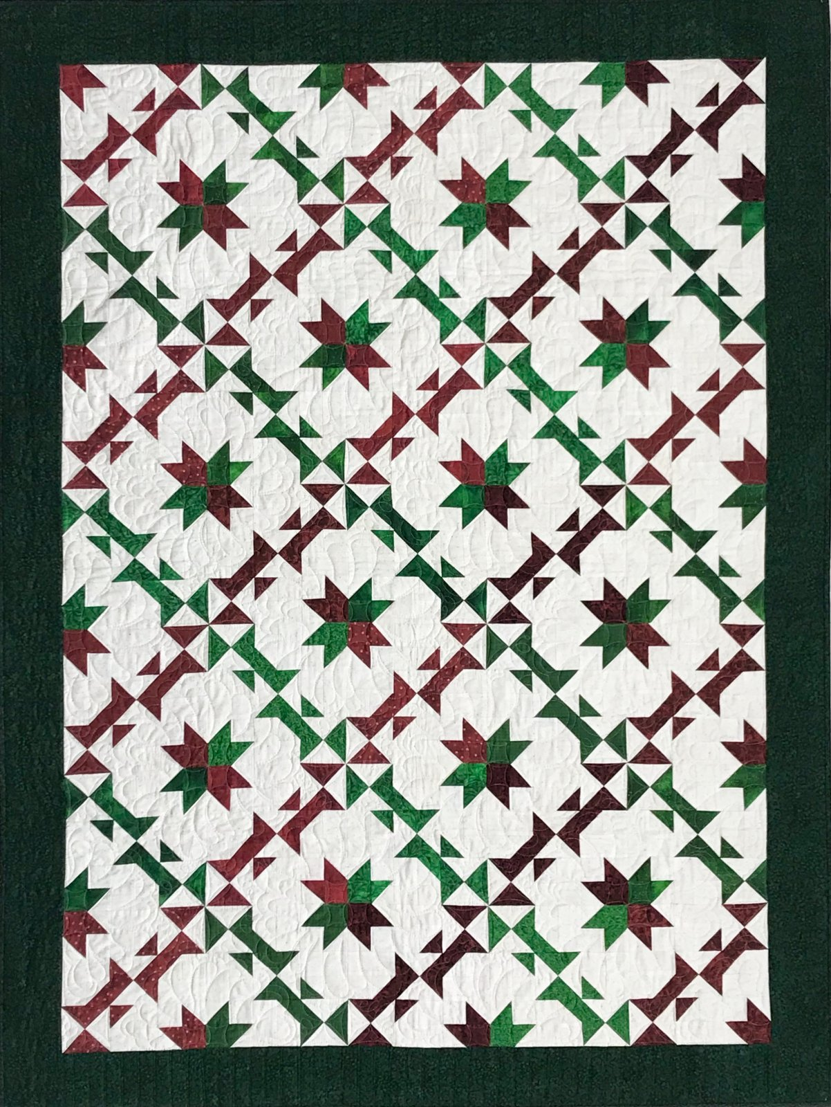 Holiday Wreaths Quilt Kit