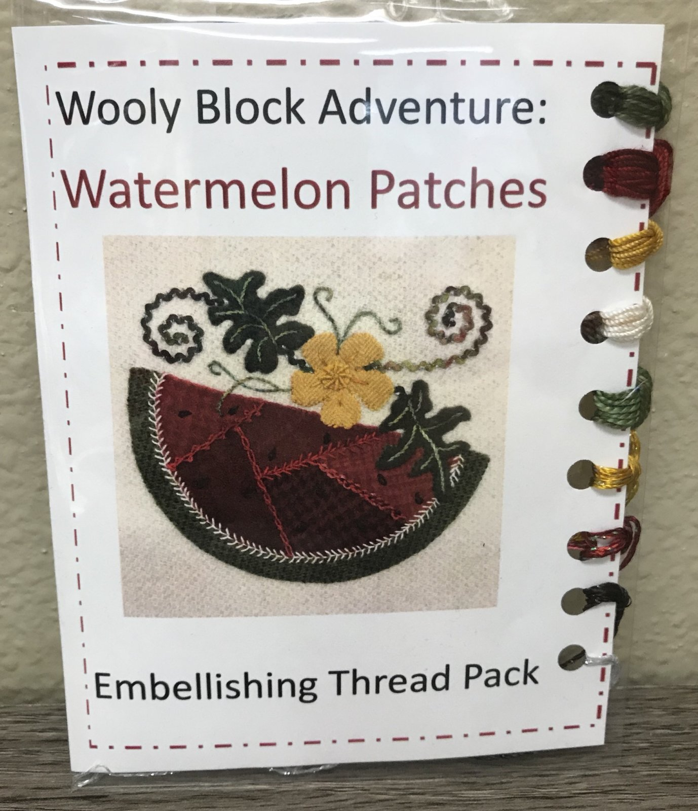 Wooly Block 2018: Watermelon Patches Embellishing Kit