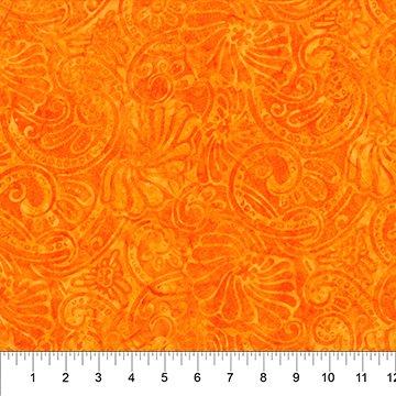80625-59 Orange Dapped Leaves Swirl