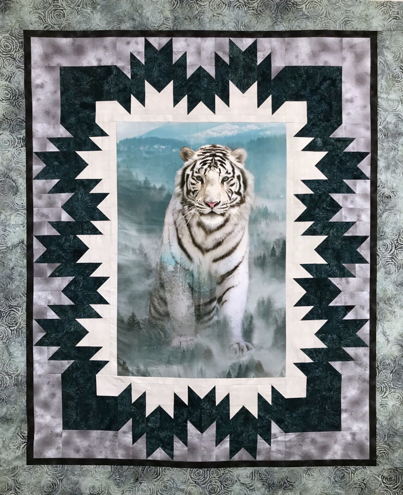 Misty Tiger Panel Quilt