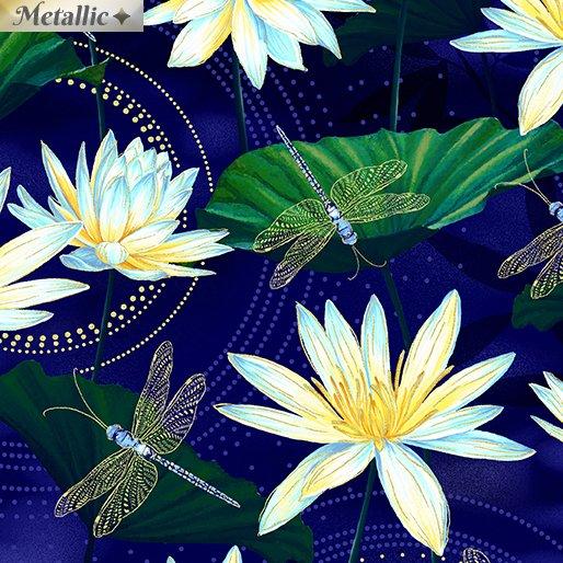 Moonlight Serenade Garden Indgo 9754M-54