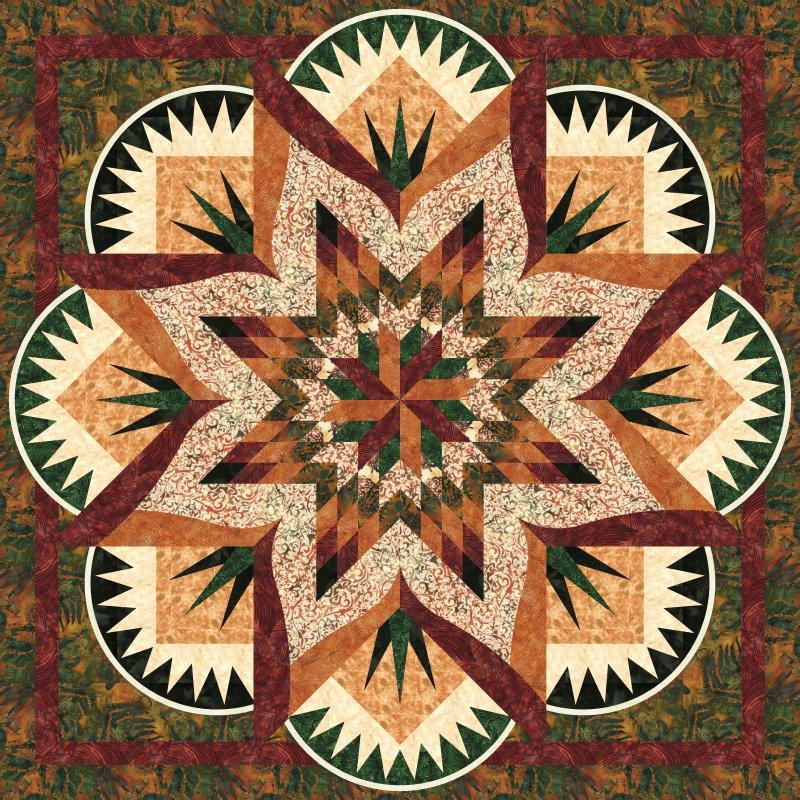 Sandstone Spires-Falling Leaves colorway