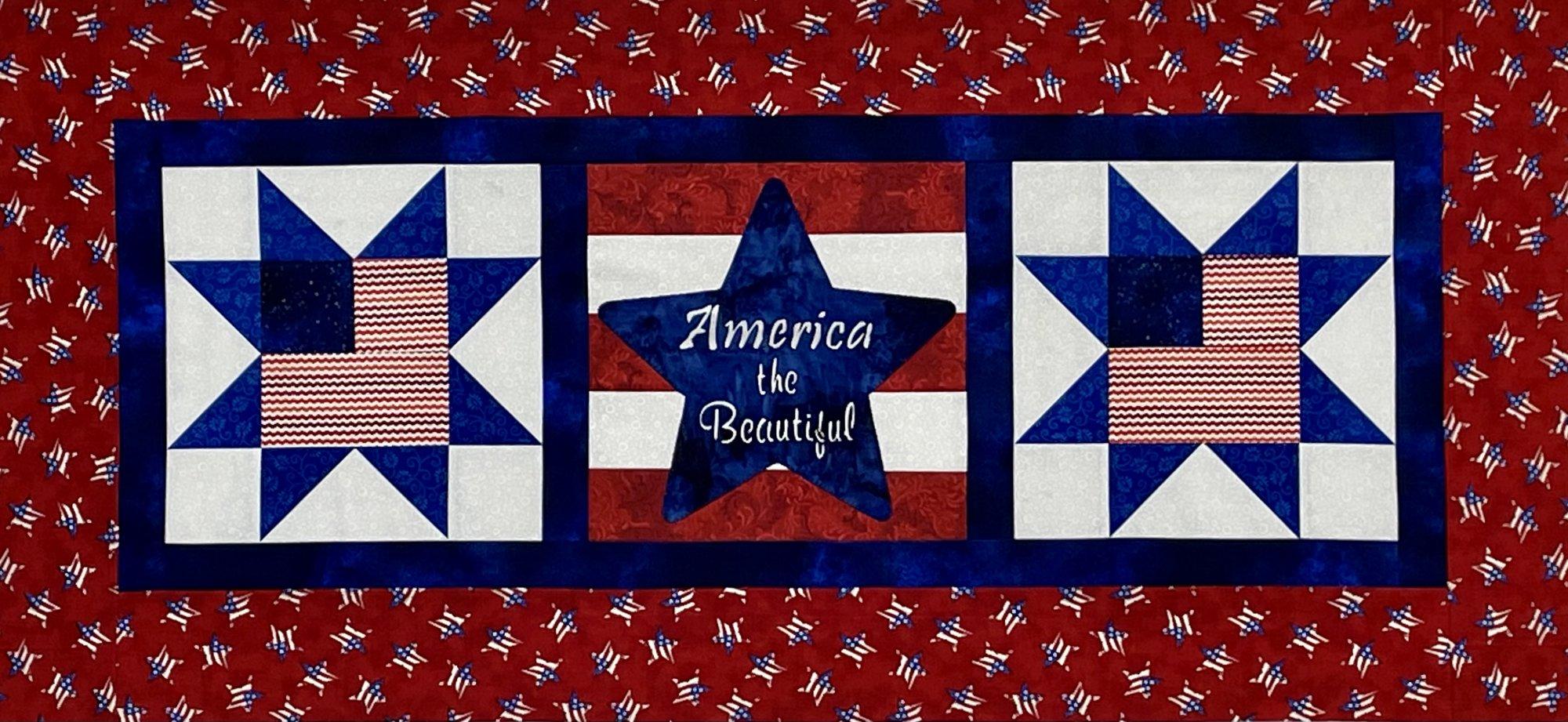 America the Beautiful Table runner