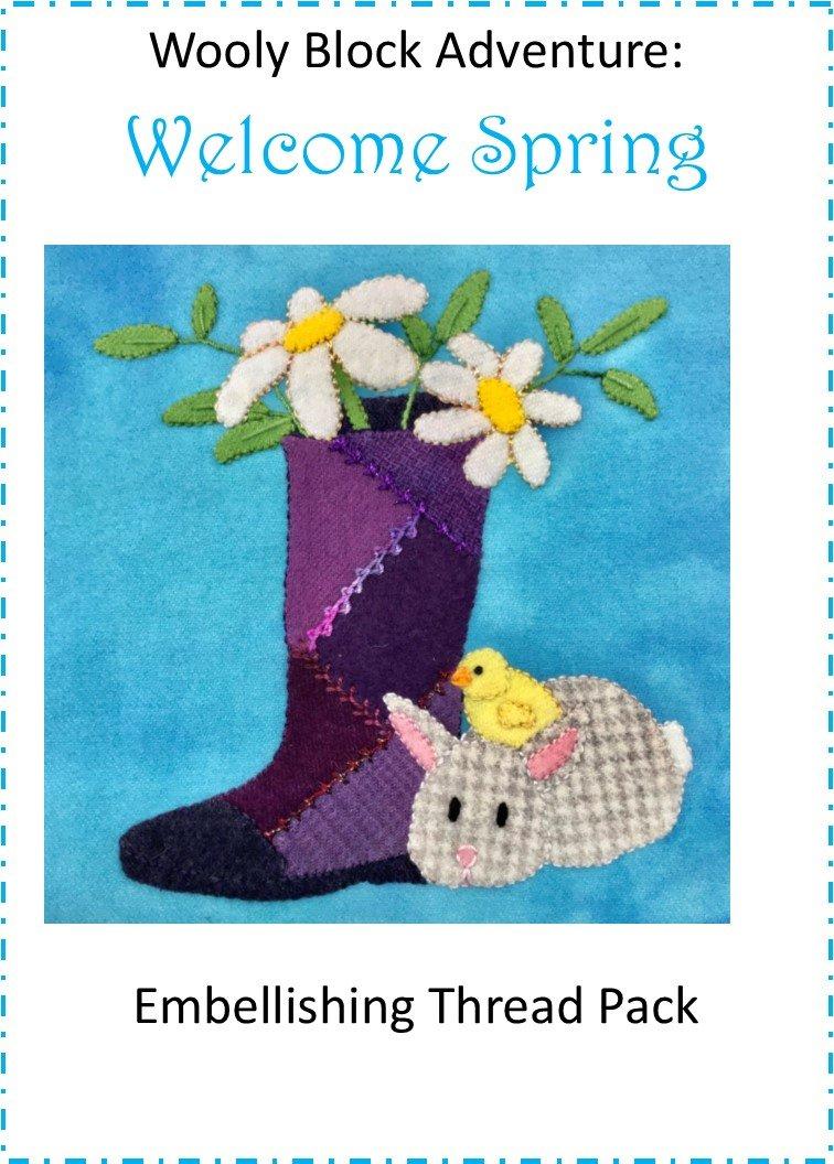 Wooly Block 2019: Welcome Spring Embellishing Kit