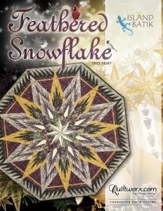 Feathered Snowflake Tree Skirt/Table Topper Full Kit
