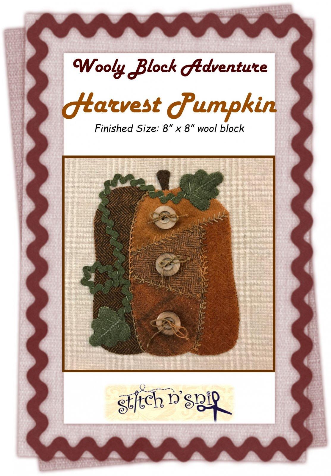 Wooly Block 2017: Harvest Pumpkin Pattern