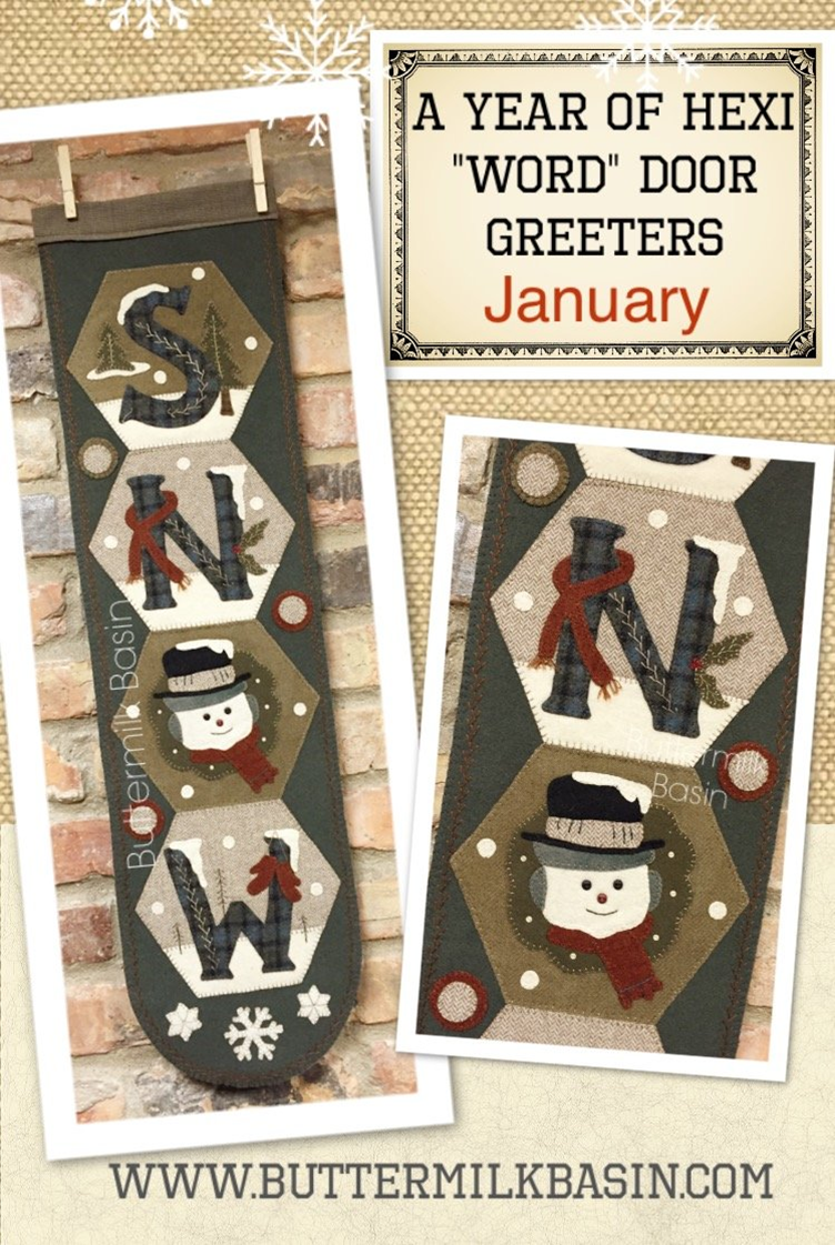 New from Buttermilk Basin Hexi Door Greeter Series. These are cute vertical wall hangings that measure 9u201d x 32u201d great for that small space that needs a ...  sc 1 st  Stitch nu0027 Snip & hexi_door_greeter.png