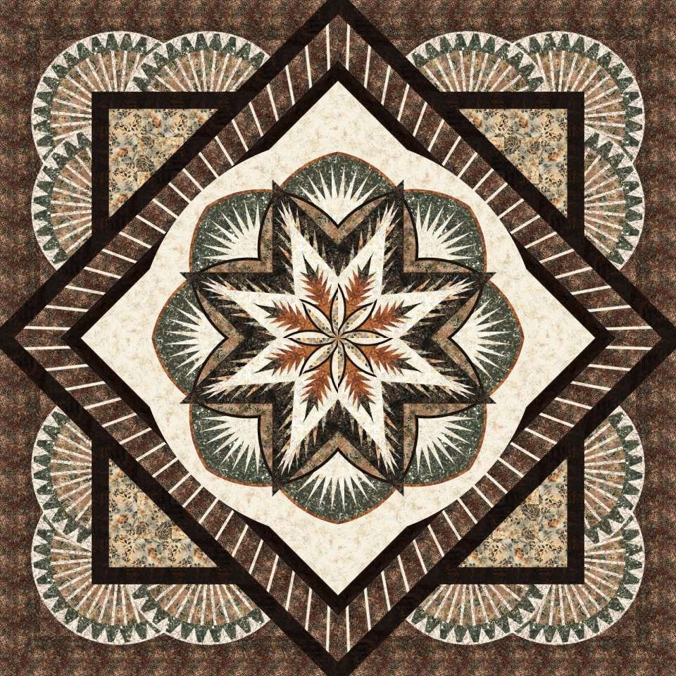 Honeycomb Quilt Kit: Cabin Fever