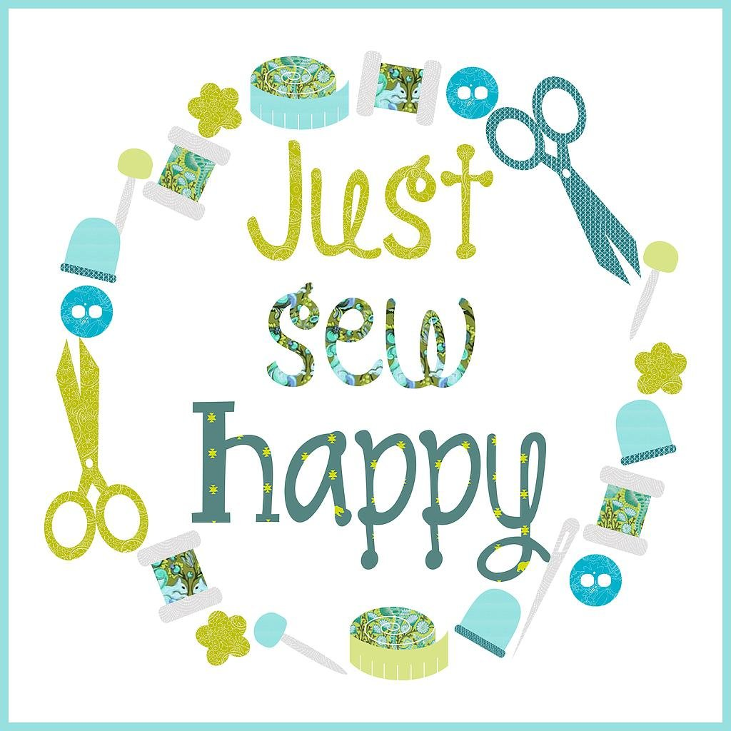 Just Sew Happy Aquamarine Pattern and Laser cut only