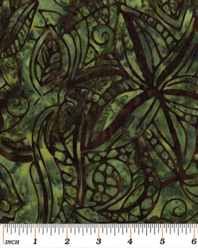 Bouquet Dark Green Batik 3686-49