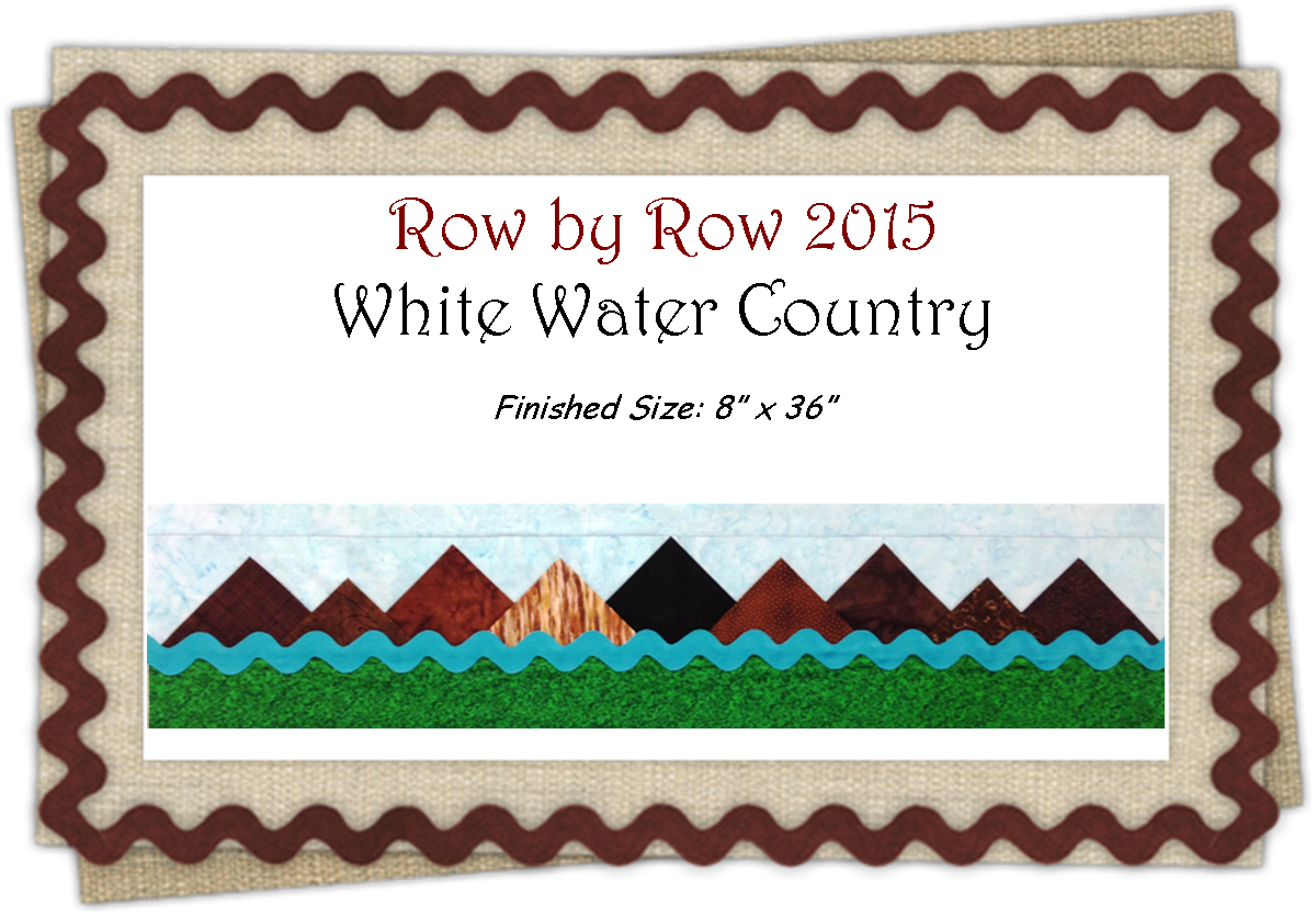 White Water Country Row By Row 2015 Pattern