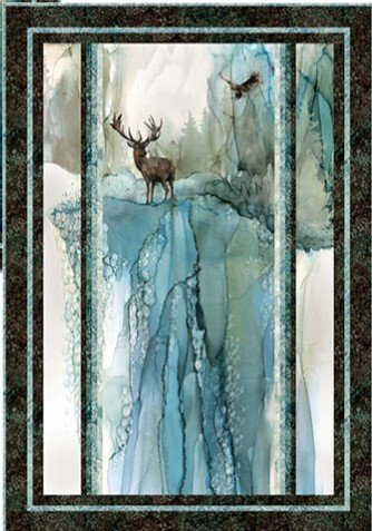 Nature's Stripes Deer Wall Hanging Quilt Kit
