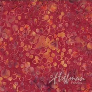 Bali Batik Honeycomb P2015-292 Cardinal