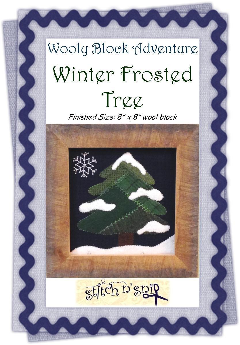 Winter Frosted Tree Pattern Digital Download
