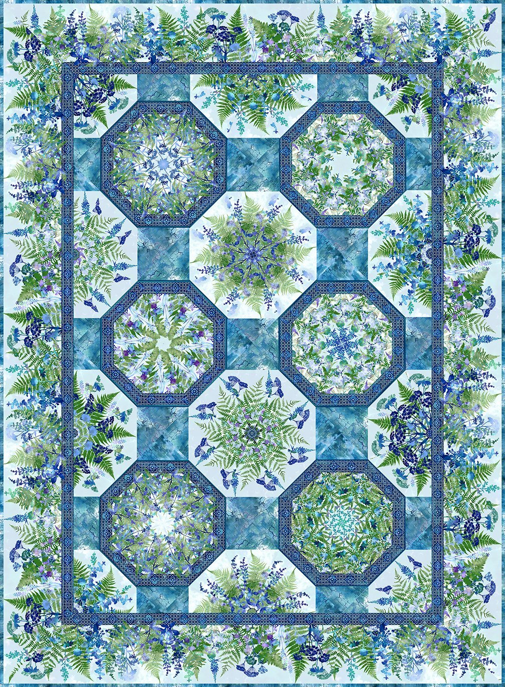 Haven One-Fabric Kaleidoscope Quilt Kit