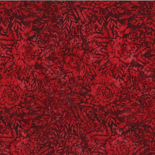 T2384-568 Red Velvet Floral Boutique Batik