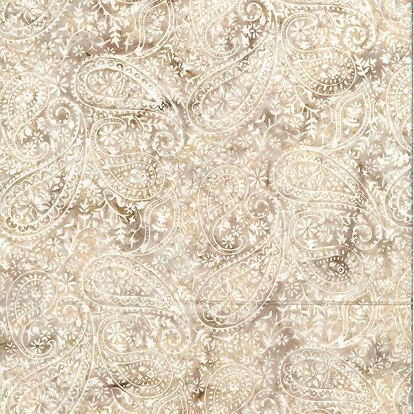 T2386-80 Taupe Paisley Batik