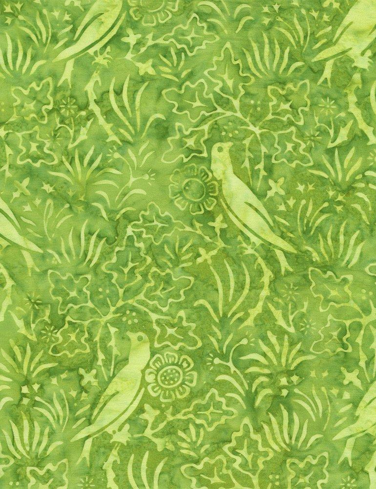 Bird Batik Tonga B4878-Lime