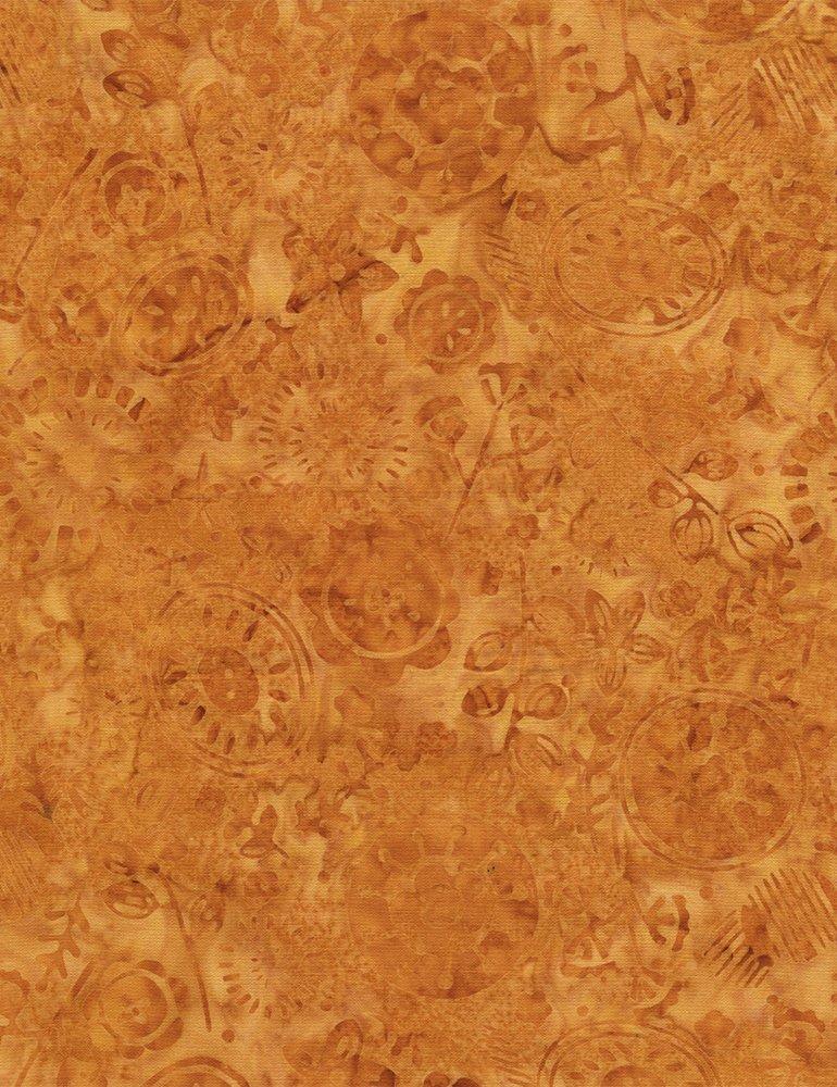 Medallion Garden Batik Tonga B4885 Persimmon