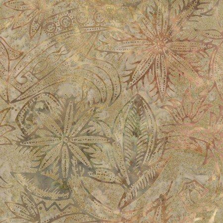 Henna Floral Batik Tonga B5040 Jute