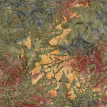 Oak Leaf Batik Tonga B9229 Nature
